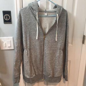 Grey comfy maternity hoodie